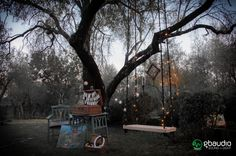 Seesaw lighting by fairy lights