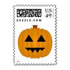 Jack O Lantern Pumpkin Halloween Postage Stamps