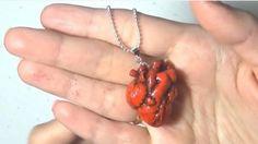 Кулон «Анатомическое сердце» из пластики