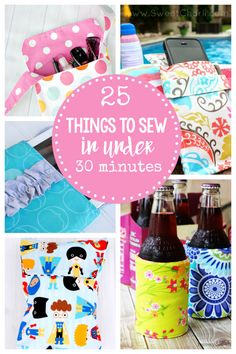 Easy Sewing Patterns-These 25 Quick Sewing Projects can be sewn in under 30 minutes! Great for beginners or anyone who wants an easy sewing project! #sew #sewing #patterns #sewingpatterns
