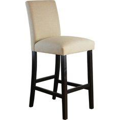 Carson Upholstered Bar Stool Linen Sandstone