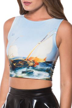 m Seascape Wifey Top by Black Milk Clothing Black Milk Clothing, Carrie Bradshaw, My Black, Clothing Items, Sportswear, Give It To Me, Cute Outfits, Crop Tops, My Style