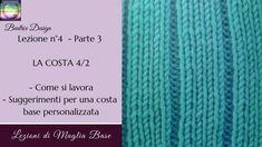 punto costa 4 a 2 Lezione a maglia per principianti n 4° Parte 3 di 69bdb2b2c56f