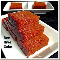 My Childhood Cake–Bee Hive Cake/Malaysian Honey Comb Cake or Kueh Sarang Semut (蜂巢蛋糕) | GUAI SHU SHU