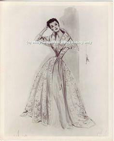 helen rose designer movies images | Joan Crawford '53 Helen Rose Fashion Wardrobe Costume Design Sketch ...