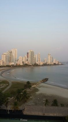 City along the beach. Cartagena, Colombia