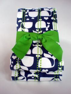 Two Pack of Premium Burp Cloths in a Navy Blue by CuddlesMore, $10.00