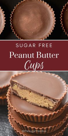 Sugar Free Peanut Butter, Sugar Free Baking, Sugar Free Chocolate Chips, Chocolate Peanut Butter Cups, Sugar Free Deserts, Low Carb Deserts, Sugar Free Recipes, Sweet Recipes, Keto Recipes