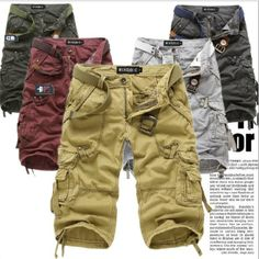 2014 new  Summer Shorts   Men's fashion camouflage shorts   overalls washed cotton trousers 7  short 5820 $21.73