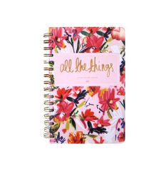 """Because with a life as busy as yours, you need a place to keep it all straight. Florals & gold foil should do just the trick! 8.5"""" x 5.5"""" 100 standard lined rul"""