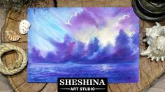 How to draw storm clouds on the sea with soft pastels Sheshina Ekaterina