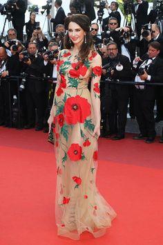Frederique Bel in Yanina Couture