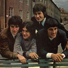 * The Kinks *  from England. Pete Quaife, Dave Davies, Ray Davies, Mick Avory.