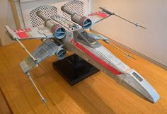 Scratch built X-Wing fighter from Star Wars.