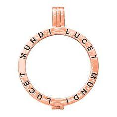 Ernest Jones - Lucet Mundi rose gold tone locket - large