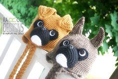 Boxer Puppy Dog Animal Hat Crochet Pattern www.irarott.com