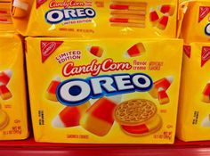 Golden Oreos are my favorite.  These limited edition Candy Corn Flavored Oreos is exclusive to Target.