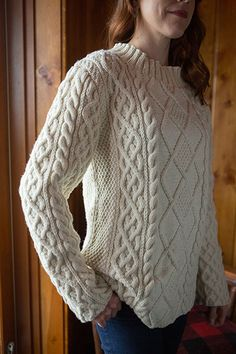 Ravelry: Inis Aran pattern by Donna Estin Free Aran Knitting Patterns, Jumper Knitting Pattern, Knitting Designs, Knit Patterns, Free Knitting, Vogue Knitting, Knitting Tutorials, Stitch Patterns, Aran Sweaters