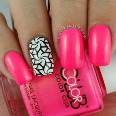 Neons and black and white designs