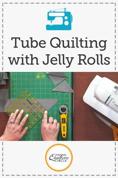 Half square triangles are a popular component in many different quilt designs. Learn a fun, new way to make them using a technique known as tube quilting- Ashley Hough shows you how.