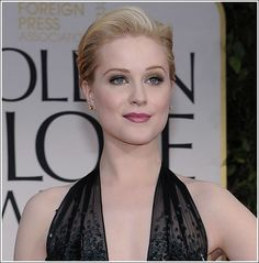 Makeup Ideas-- Evan Rachel Wood at the 2012 Golden Globes