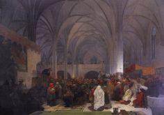 Paintings, Slavic epic  by Alphonse Mucha