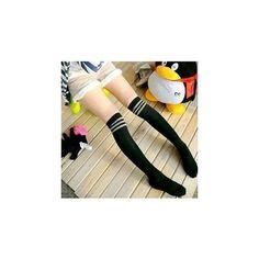 Over-the-Knee Socks (€5,30) ❤ liked on Polyvore featuring intimates, hosiery, socks, women, overknee socks, white over the knee socks, retro socks, white cable knit socks and cable knit socks