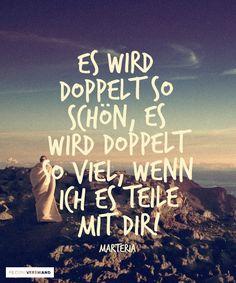 'Es wird doppelt so schön, es wird doppelt so viel, wenn ich es teile mit dir.' - lyrics from 'Welt der Wunder' by Marteria #lyricart