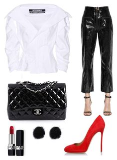 """Party look✨"" by pirjo-kivimaki on Polyvore featuring Chanel, Jacquemus, Christian Dior, self-portrait and Dsquared2"