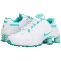 Nike Shox NZ EU Women's Shoes (2,130 MXN) ❤ liked on Polyvore featuring shoes, athletic shoes, waffle shoes, laced shoes, lightweight shoes, nike and lace up shoes
