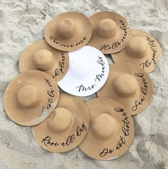 bachelorette party ideas Floppy Beach Hat Personalized Bride Hat Floppy Hat with Name Custom Personalized Beach Hat Honeymoon Must Have Honeymoon Gifts Beach Bachelorette, Bachelorette Party Gifts, Bachelorette Outfits, Beach Bridesmaids, Etsy Bridesmaid Gifts, Bridesmaid Proposal, Honeymoon Gifts, Party Hats, Bacherolette Party
