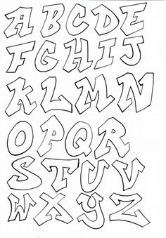 Bubble Letter Graffiti Fonts Design Oct 2013: Graffiti