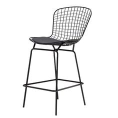 Check out what I have found on the ebarza. I think you will like the Wire Bar Stool &Genuin leather Cushion BP8601-B