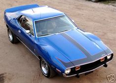 Blue 1973 AMC Javelin  Mine wasn't this pretty... but it was FAST!