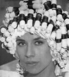 Perm Rods, Permed Hairstyles, Curlers, Vintage Glamour, Hair Beauty, Beautiful, Shoes, Fashion, Perms