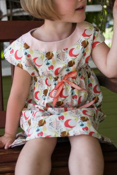 SWEET version of Oliver + S Roller Skate Dress || probably actually  Make this with fabric from Laughing House Fabric http://laughinghousefabric.etsy.com