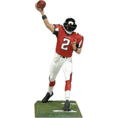 """McFarlane Toys Atlanta Falcons Matt Ryan Figurine by McFarlane Toys. $9.99. Officially licensed. Display base includedDimensions: H 3"""". Authentic detailing. NFL® figurine. CHOKING HAZARD: Small parts. Not for children under 3 years. Celebrate one of the NFL's® stars with this officially licensed Atlanta Falcons Matt Ryan figurine from McFarlane Toys™. The 3"""" figurine boasts authentic detailing and comes posed. The included base allows you to proudly display the figuri..."""