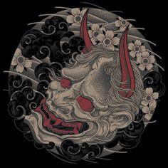 Irezumi Tattoos, Yakuza Tattoo, Tatuajes Irezumi, Hanya Tattoo, Maori Tattoos, Tribal Tattoos, Marquesan Tattoos, Japanese Hannya Mask, Japanese Demon Tattoo