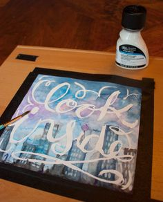 water color and masking fluid
