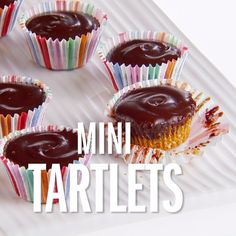 Giada's Chocolate-Honey-Almond Tartlets are refrigerated in mini cupcake liners making them great bite-sized snacks for any occasion!