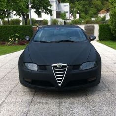 Awesome #Alfaromeo 159 with a black matte wrap #MakeitStick #Paintisdead  Credit goes to the photographer