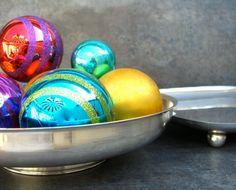 Mid Century Silver Footed Bowl Minimalist Decor by SilverAndBone