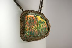 Made from polymer clay using the Holo Effect Tutorial from The Blue Bottle Tree.