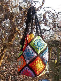 Sunny Squares Crochet Bag