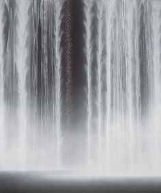 Hiroshi Senju, Waterfall (2012), Natural pigments on Japanese mulberry paper, 76 5/16 × 63 3/16 × 1 3/16 in