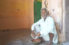 Man in Mandore Gardens, near Jodhpur, India.