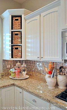 Adding Trim To Kitchen Cabinets easy (and inexpensive) cabinet updates: adding trim to cabinets