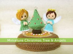 Miniature Christmas Tree & Angels byTales-of-Twisted-Fibers. Free pattern.