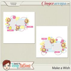 Make A Wish by Dagi's-Temp-tations. Now available at 30% off @ Gingerscraps. Includes the png, psd, tiff and page file formats