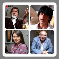 #instacollage #bollywood legends @srbachchan @iamsrk Yash Chopra and Rani Mukherji #actors #director #collage #movies #cinema #sohailanjumphotography www.facebook.com/sohailanjumphotography Bollywood, Facebook